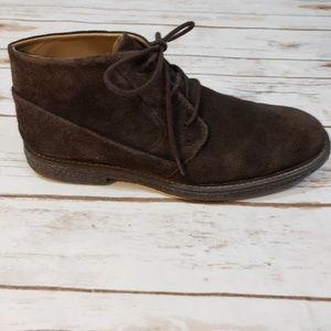 CALVIN KLEIN Dark Brown Suede Boots Sz 7.5